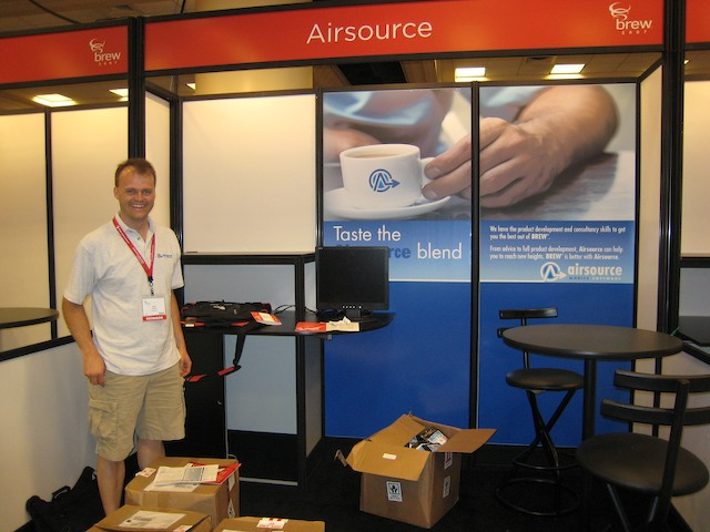 Setting up the Airsource stand