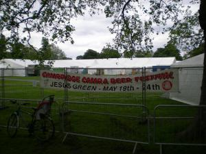 A banner declaring the event
