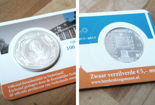 Royal Dutch Mint 5 Euro coin