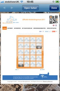 Dutch Mint QR code site, memory game