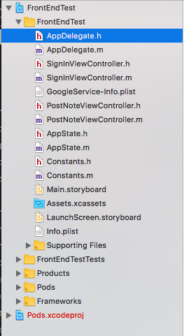 """""""Directory structure of iOS App project"""""""
