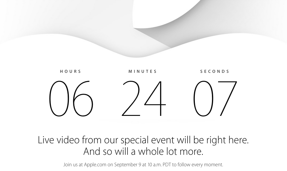 Apple iWatch Announcement Countdown