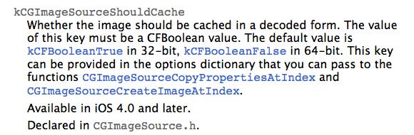 kCGImageSourceShouldCache-docs