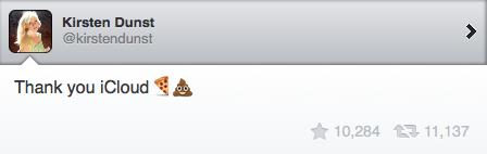 Kirsten Dunst's opinion of iCloud