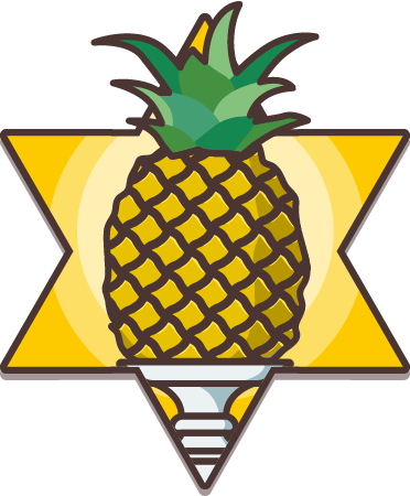 Pineapple award badge