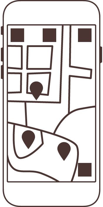Outline sketch of map screen