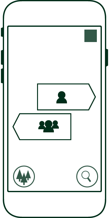 Outline sketch of selection screen