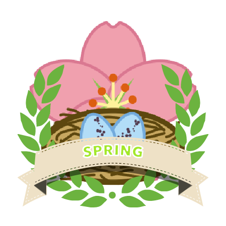 Spring award badge